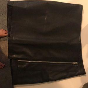 Brand new vegan leather skirt